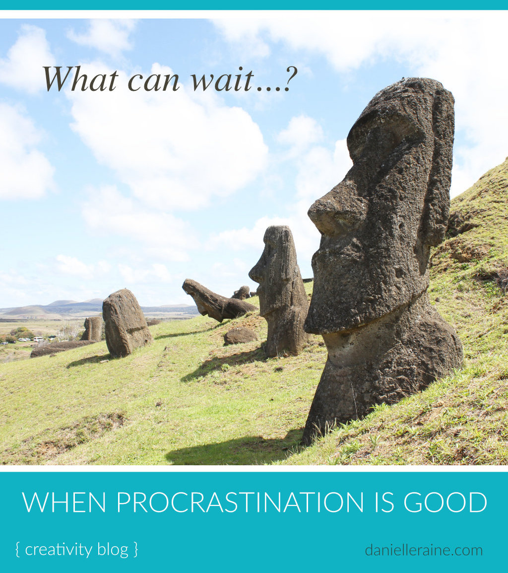 what can wait productivity is good easter island pin