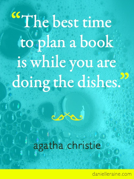 agatha christie doing the dishes quote
