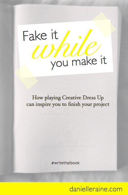 Writers Corner tip for writing a book fake it while you make it