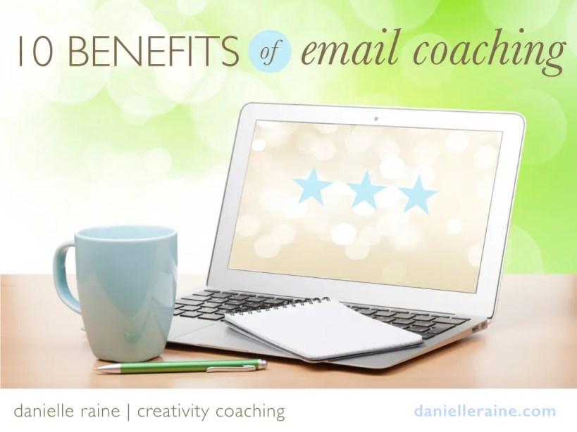 10 benefits email coaching laptop notebook mug image