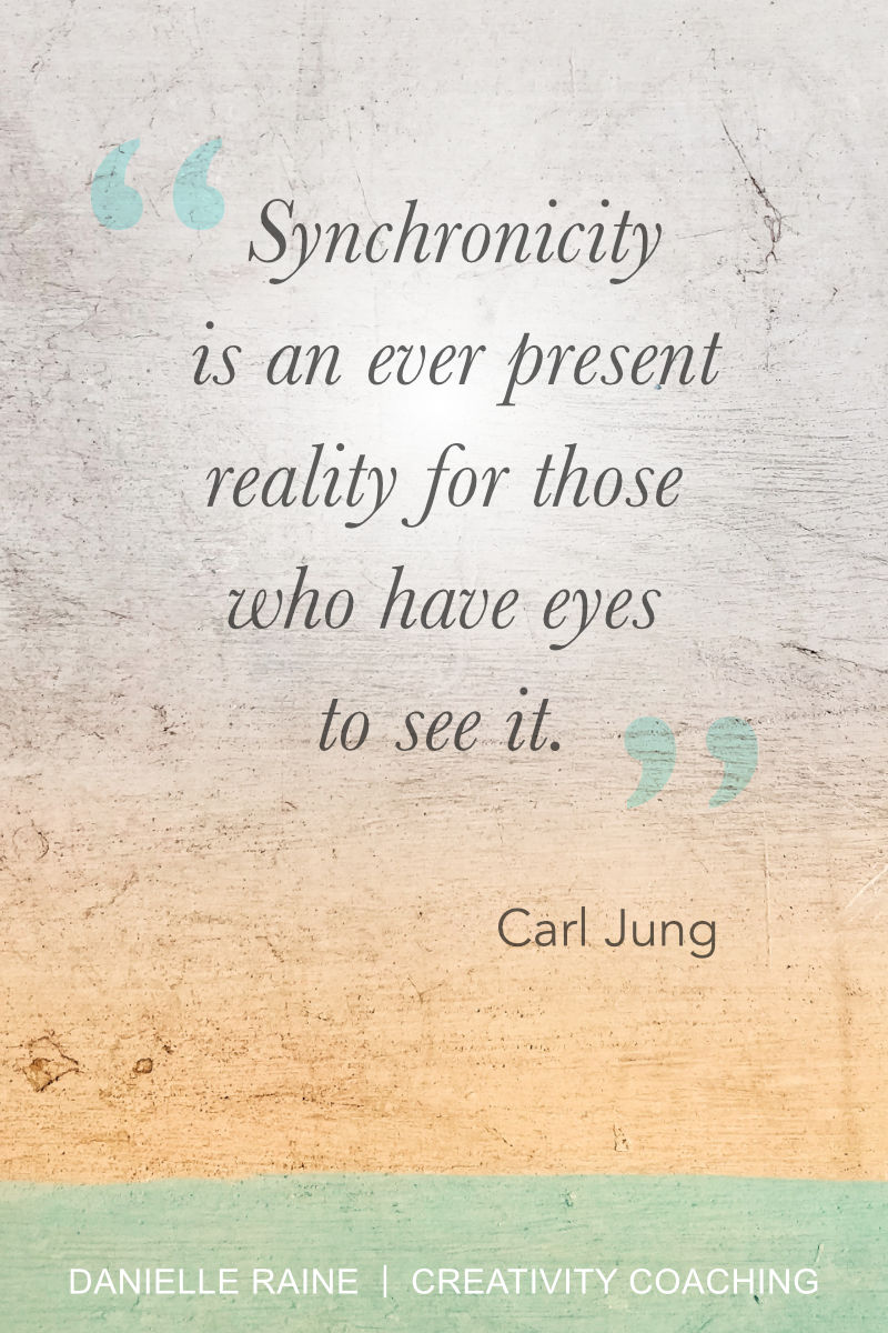 Synchronicity quote carl jung creative intuition muse blog danielle raine