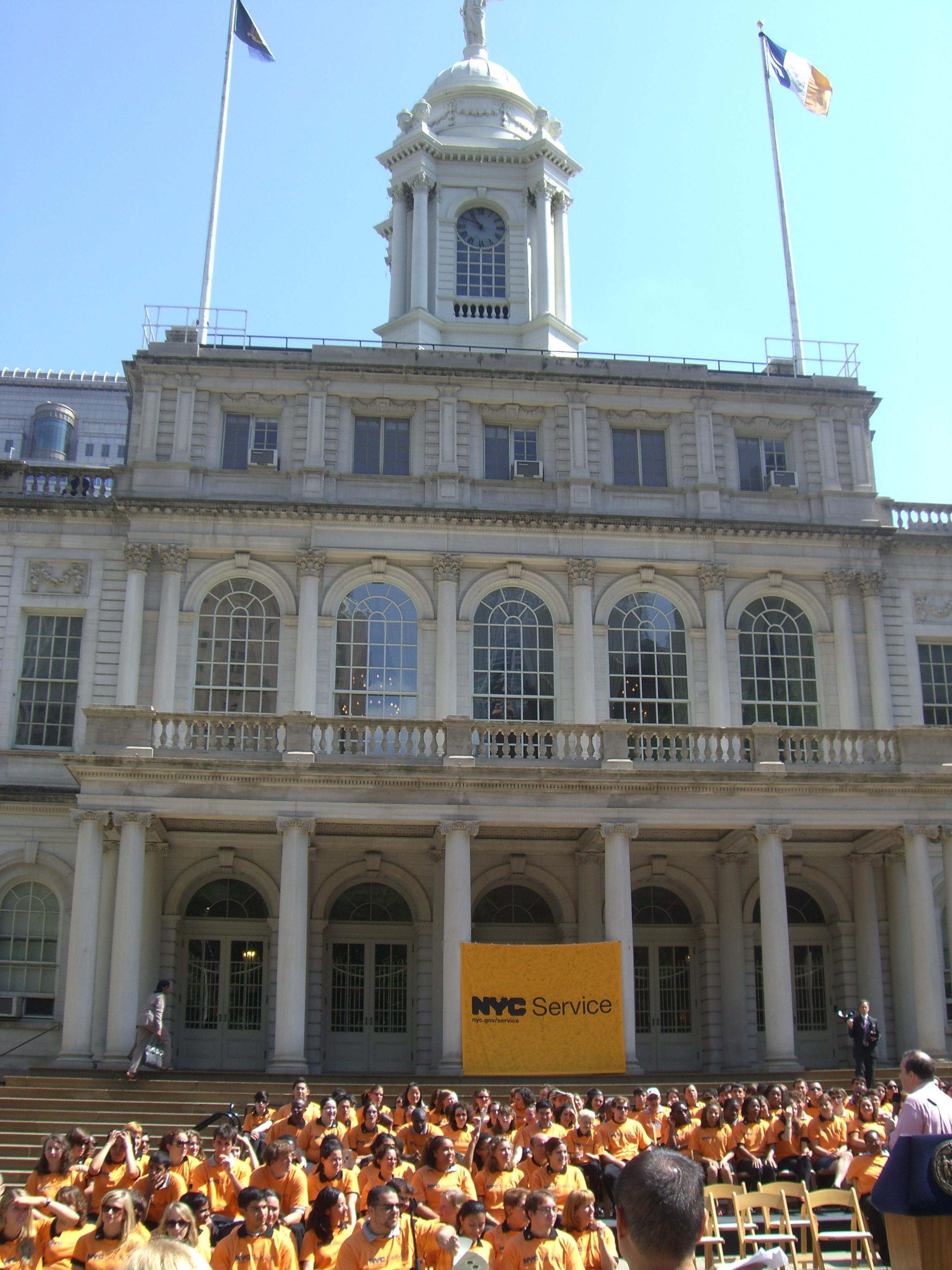 VISTAs at swearing in at NYC City Hall