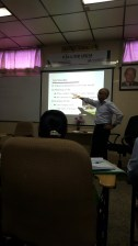 Dr. Rajagopal gave us his spirituality lecture. He is such a wise and philosophical man..