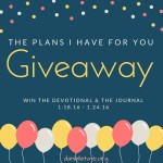 The Plans I Have For You Devotional Giveaway