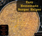 homemade burger helper