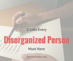 5 Lists Every Disorganized Person Needs