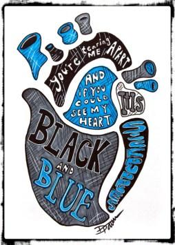 black-and-blue-border