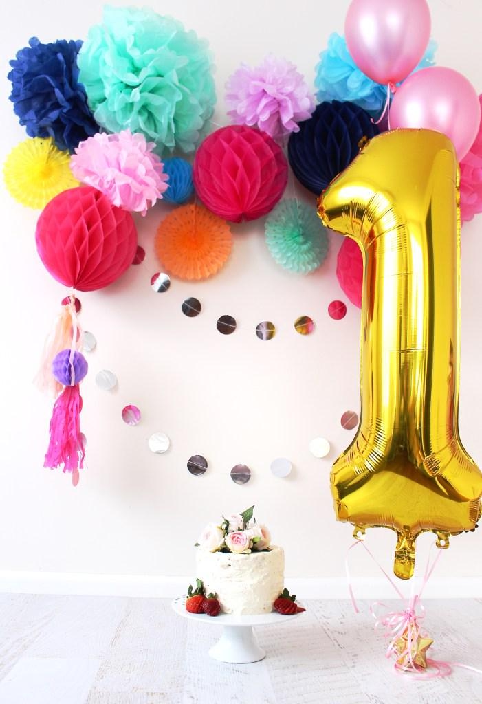 cake smash diy at home first birthday