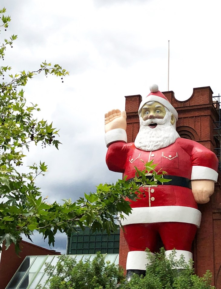 adelaide city central market santa visit south australia with kids giant father christmas iconic november roundup