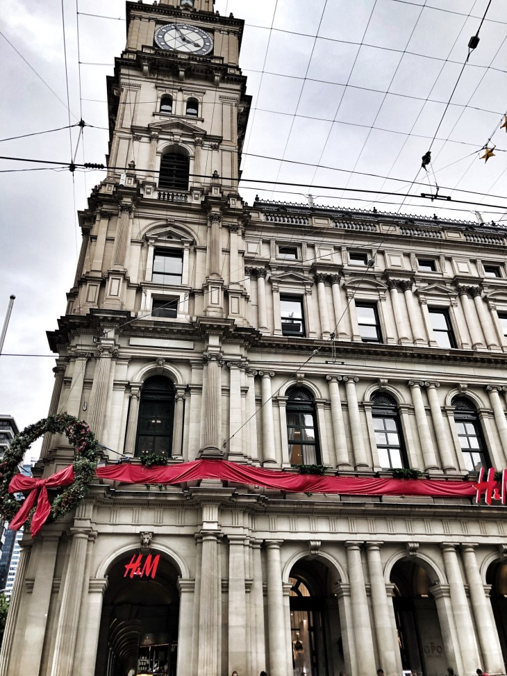 novemnber roundup melbourne gpo building christmas in the city lifestyle blogger bourke street mall