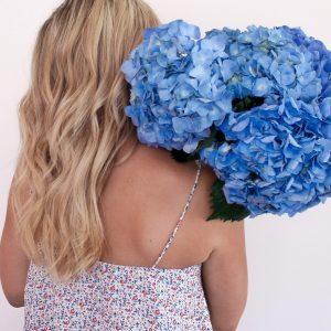 meloburne lifestyle blogger twelve good deeds 2018 blue hydrangeas beauty blog fashionista gratitude