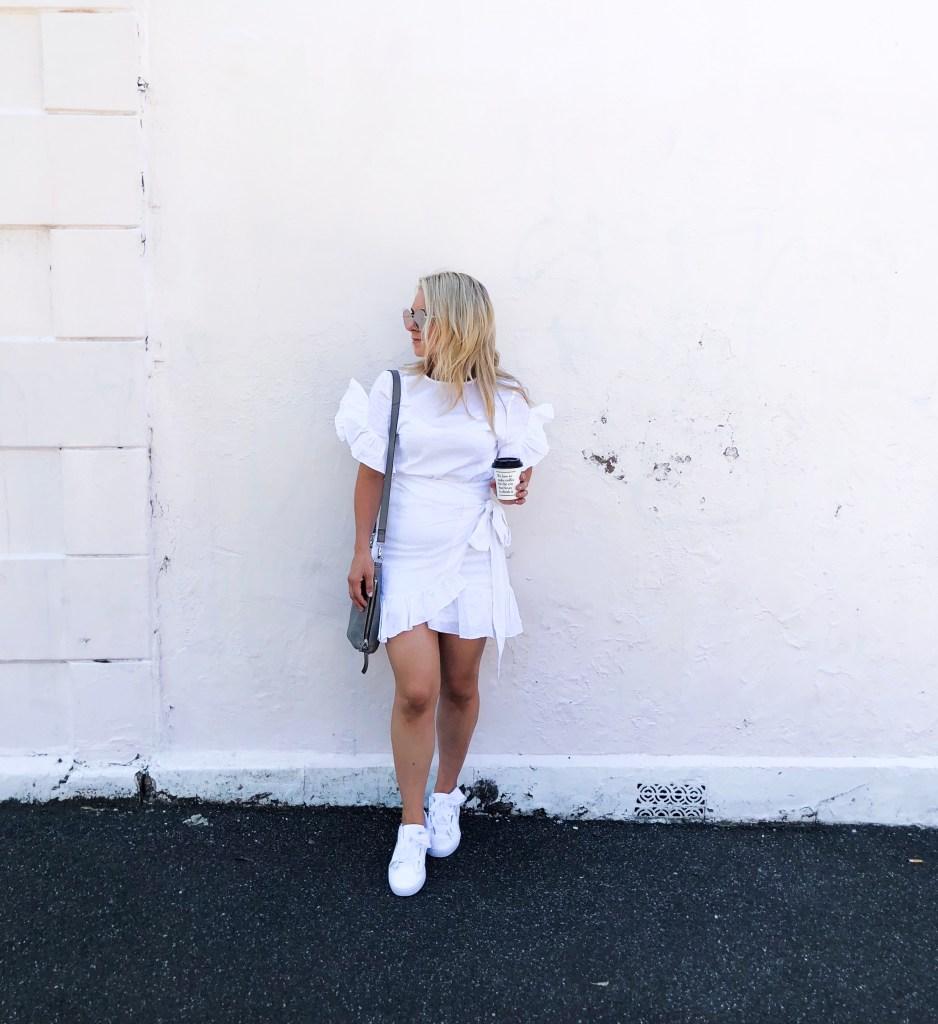 danielle vella melbourne lifestyle blogger beauty blog mum life fashion white summer dress puma basket hearts shop my look