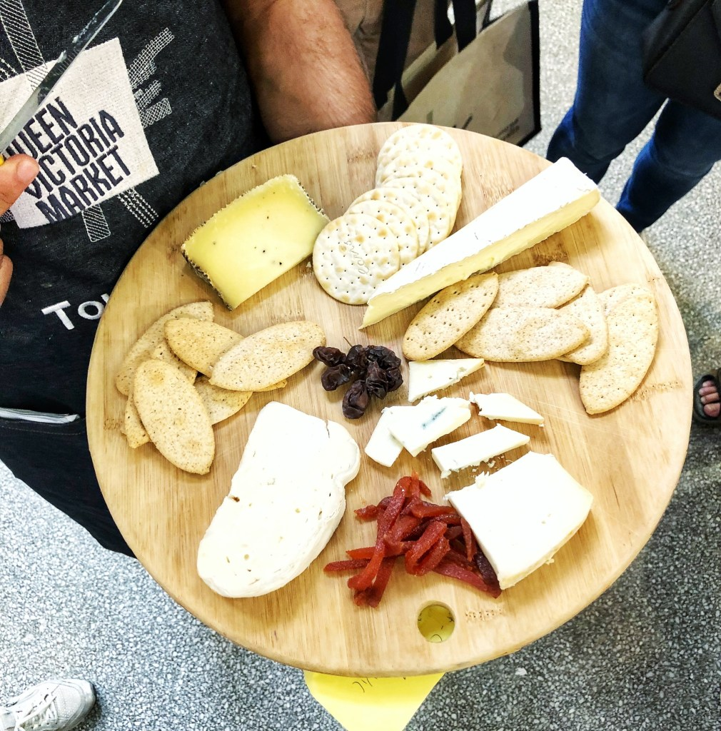 the ultimate foodie tour queen victoria market melbourne lifestyle blogger danielle vella to do in victoria cheese tasting