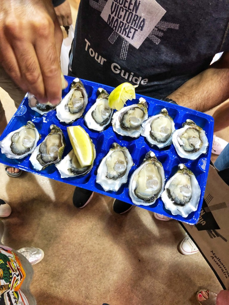 ultimate foodie tour queen victoria market melbourne lifestyle blogger danielle vella beauty blog markets oysters things to do in victoria