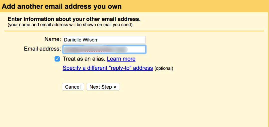 Adding your professional email to a free gmail account