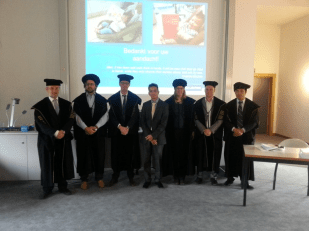 Finishing the PhD, Leuven, Blgium, June 2013