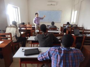 Teaching, Cotonou, Benin, April 2015