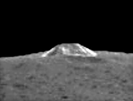 La montaña en mayor detalle (Ron Baalke/NASA).