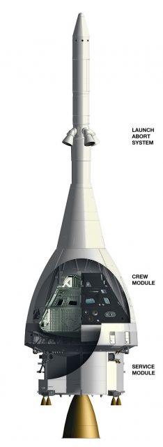 Aspecto original de la nave Orión/MPCV de 2011 (NASA).