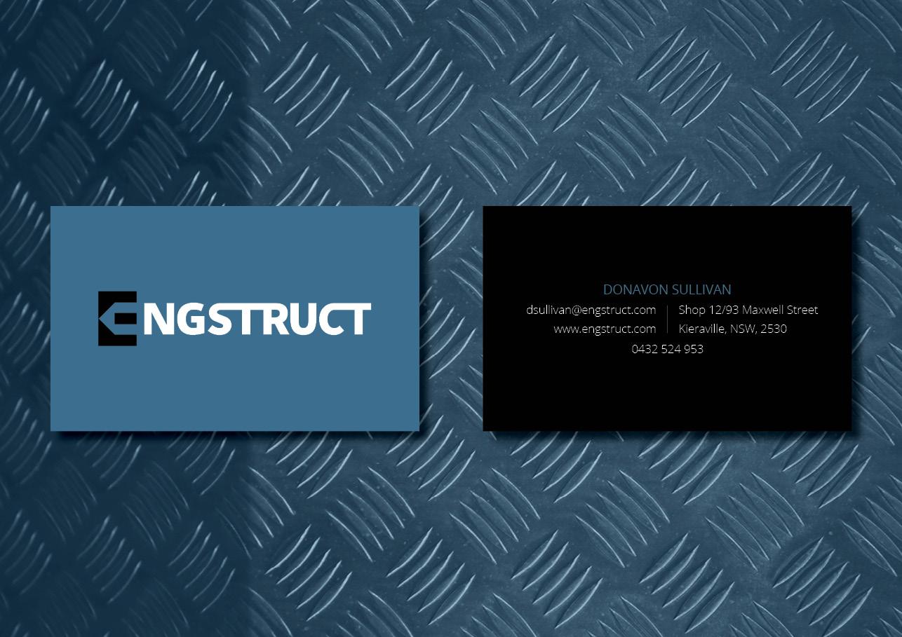 Business card design for Engstruct