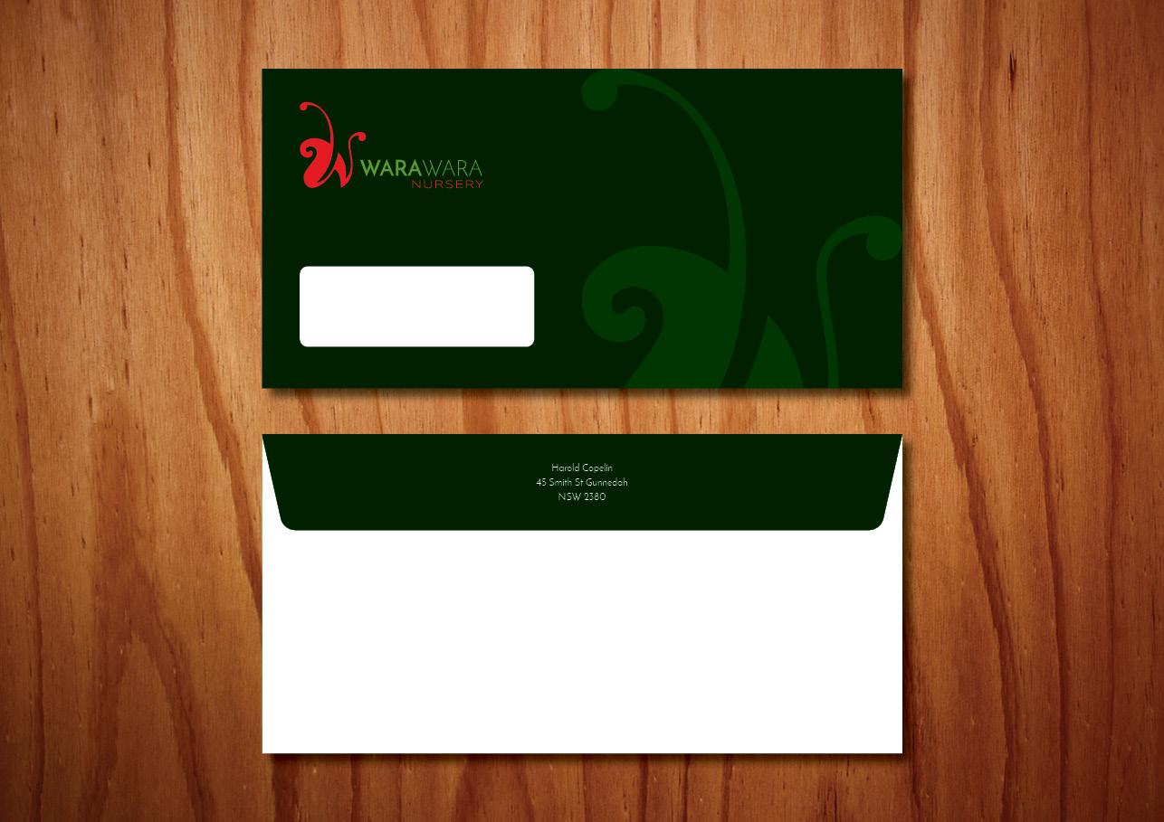 Envelope design for WaraWara Nursery