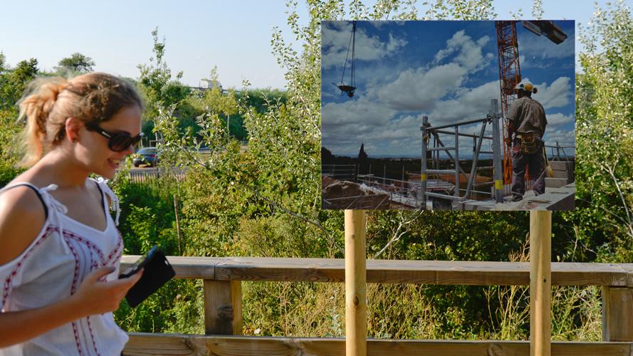 Exposition photo en plein-air sur le site de Fonseranes
