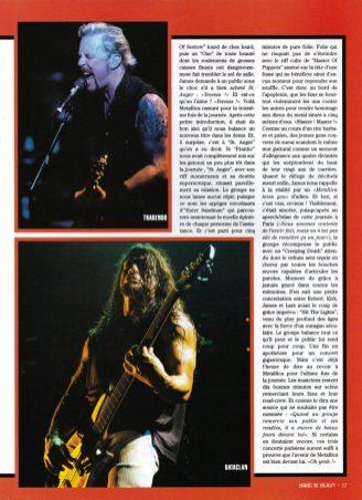 Metallica dans le magazine Hard'n'Heavy