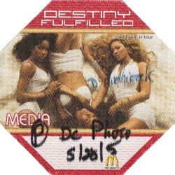 Pass photo pour la tournée de Destiny's Child 2005