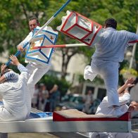 Joutes nautiques sur le Canal du Midi à Béziers
