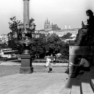 La cathédrale de Prague en Tchécoslovaquie