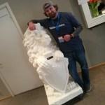 3D Printed Lion & Dave
