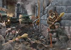 """Soldados franceses de la 33ª Div. Waffen SS """"Charlemagne"""". Berlín 1945."""