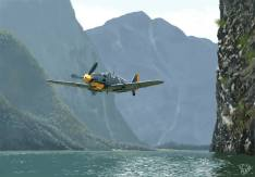 Caza alemán Bf-109.