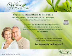 Whole Wellness Club Business Opportunity