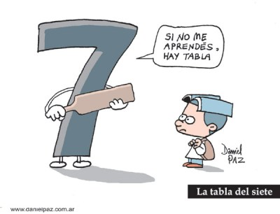 """tabla-del-7"" por Daniel Paz"