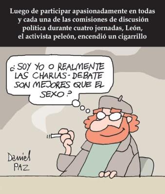 """""""sexo y charla-debate"""" por Daniel Paz"""