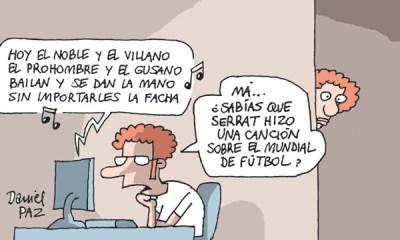 """""""serrat y el mundial de futbol"""" por Daniel Paz"""