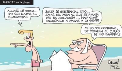 """""""Garcap en la playa"""" por Daniel Paz"""