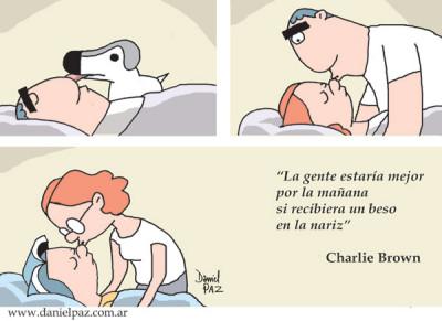 """""""beso en la nariz"""" por Daniel Paz"""