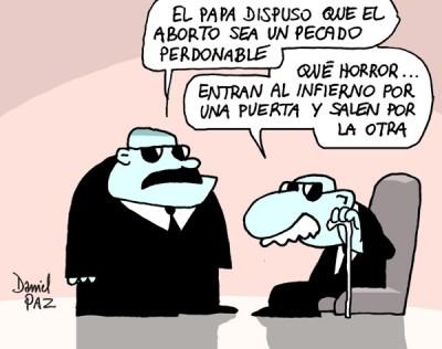 """iglesia_aborto"" por Daniel Paz"
