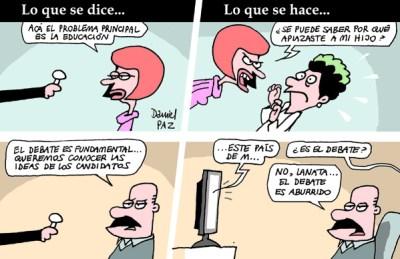 """debate"" por Daniel Paz"