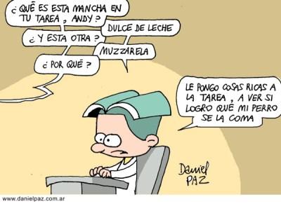 """""""comer la tarea"""" por Daniel Paz"""