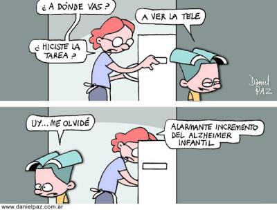 """""""alzheimer infantil"""" por Daniel Paz"""