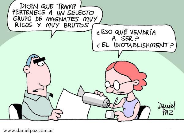 """idiotablishment"" por Daniel Paz"