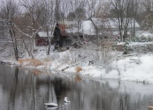 Winterscape on North Raisin River, Willliamstown, ON.