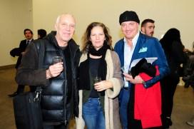 "Luigi Colarullo, Sally Colarullo, Alberto Maudo== Kristin Prim ""Close To You"" Debut New York City Exhibition == 516 West 20th Street, NYC== November 21, 2016== ©Patrick McMullan== Photo - Paul Bruinooge/PMC== =="