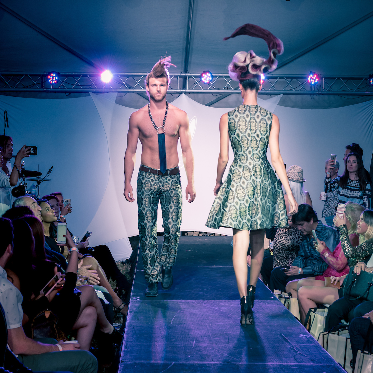 Mister Triple X at the Art Hearts Fashion Show, Art Basel Soiree
