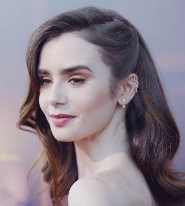 e8fbd6c682f Lily Collins wore Djula and Maxior to  The Last Tycoon  Premiere ...