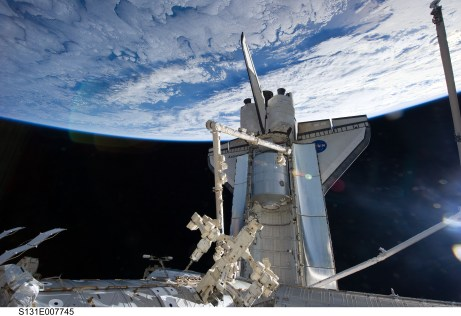 Shuttle at ISS