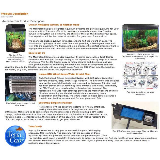Tetra Fish Amazon A+ Page